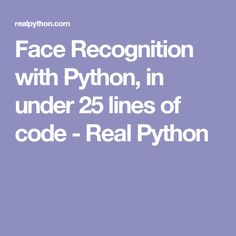 In this tutorial, we'll show an example of using Python and OpenCV to perform face recognition. Computer Programming Languages, Computer Coding, Coding Languages, Computer Technology, Computer Science, Plc Programming, Visual Analytics, Python Programming, Learn To Code