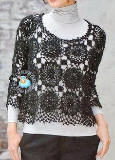 Crochet Lace Sweater For Women