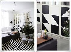 This takes my love of black/white to another level!!!! look at those bitty foot stools