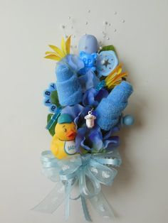 baby shower corsages | /Baby Shower Corsage / Baby Washcloth Corsage / Reusable Items /Baby ...