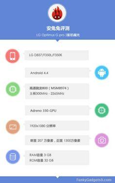 LG G Pro 2 specs leaked via AnTuTu's database