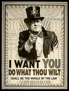 Image result for happy birthday to aleister crowley satanic wife meme