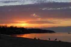 Town beach dusk
