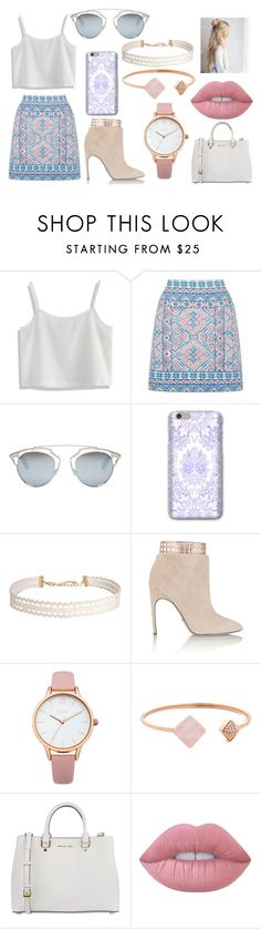 """Summer Light Look"" by norishaa on Polyvore featuring Chicwish, Oasis, Christian Dior, Humble Chic, Sergio Rossi, Michael Kors, MICHAEL Michael Kors and Lime Crime"