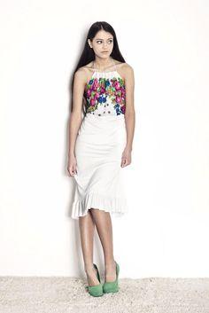 White floral dress from polish designer Kasia Miciak.    $160    http://odprojektanta.pl/pr-188/Kasia-Miciak-Sukienka-z-odkrytymi-plecami.html      Contact: bok@odprojektanta.pl