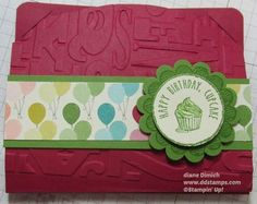 Stampin Up Pop 'n' cuts die gift card holder by Diane Dimich