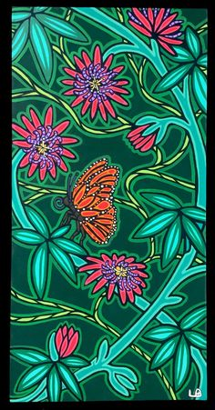 In the Passion Garden by lesliebaylinson on Etsy