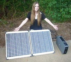 """Warren says: """"Screw the Grid!"""" 1800 watts with a 120-watt folding solar panel and 70 AMP HOUR Battery! (That means you can run a LOT of stuff to stay comfy) So Light Portable You Can Throw It In Your Car To Evacuate"""