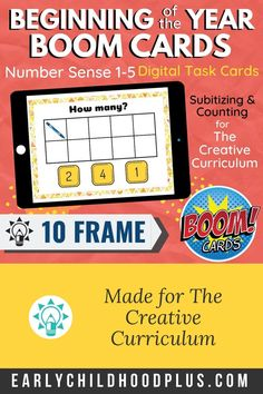Creative Curriculum Beginning of the Year BOOM Card Number Distance Learning Inclusion Classroom, Math Classroom, Classroom Activities, Classroom Ideas, Teaching Strategies Gold, Learning Resources, Teaching Ideas, Preschool Teachers, Creative Curriculum
