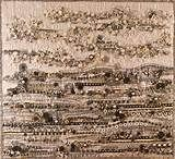 """Contemporary beaded art quilt - """"In the Field of Lost Bytes"""" Contemporary Quilts, Bead Art, Needlework, City Photo, Lost, Embroidery, Dressmaking, Couture, Handarbeit"""