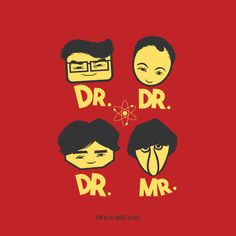 Dr. Dr. Dr. Mr.Wall art | Buy The Big bang Theory Official Merchandise T-Shirts India