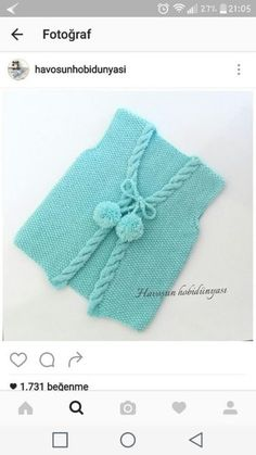 """Diy Crafts - """"Discover thousands of images about Mehmet Yolaçan"""", """"Yellow baby vest,knit baby girl vest, winter trends by likeknitting on E Baby Knitting Patterns, Knitting For Kids, Baby Patterns, Knitted Baby Cardigan, Baby Pullover, Knitted Baby Clothes, Baby Knits, Crochet Baby, Knit Crochet"""