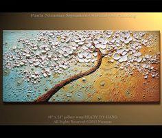 Toque de verano pintura paisaje espátula pintura abstracta en