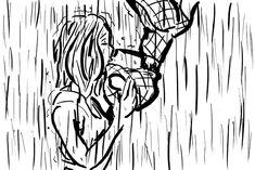 RABISCOS ENQUADRADOS: CENA DE CINEMA 14: KISS ME UNDER THE RAIN