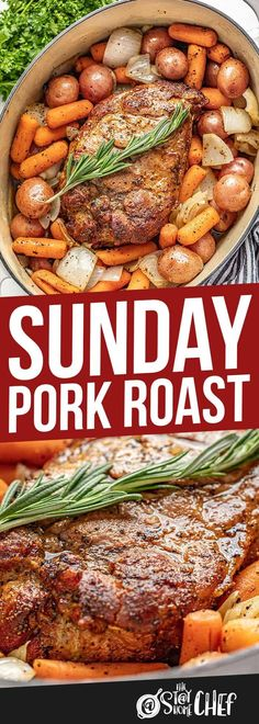 Sunday Pork Roast is an easy to make comfort food that is hearty, filling, and can easily feed the whole family for Sunday dinner. This recipe includes instructions for a classic oven braise as well as cooking in a slow cooker or Instant Pot. Slow Cooker Pork Roast, Pork Roast In Oven, Pork Roast Recipes, Slow Cooker Recipes, Cooking Recipes, Roast Pork Shoulder Oven, Pork Roadt, Instant Pot Pork Roast Recipe, Slow Cooker Dinners