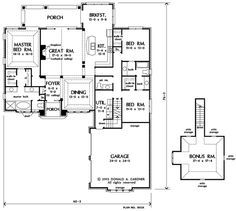 Floorplan The Amelia House Plan #1360-D 2 suites downstairs ...