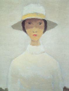 La femme au chapeau blanc,   Jean Paul Lemieux