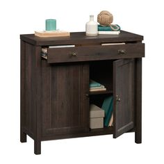 Shelby 1 Drawer Accent Cabinet Small Cabinet, Oak Color, Bathroom Furniture, Condo Bathroom, Large Drawers, Hidden Storage, Small Office, Cabinet Design, Panel Doors