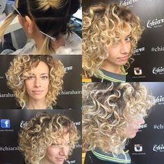 #blondie and #haircut #curly #colorcuture  #morfologia  #passion❤️ ....#quality #bari #hairsalon .... @chiara_hairstyle