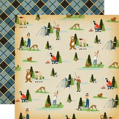 Carta Bella Paper - The Great Outdoors Collection - 12 x 12 Double Sided Paper - Let's Camp
