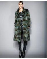 The Fur Vault Plus Size Coyote-Fur Coat - Green L