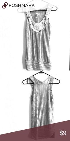 Glam sparkley tank top - Silver Women's size medium. VERY sparkley Macy's Tops Tank Tops
