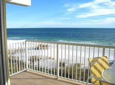 Our gorgeous gulf front view from our balcony with 180 degree views!