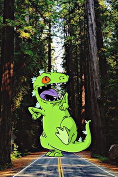 iOS 6 Reptar wallpaper made by me
