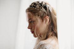 Wedding hair jewelry crown Noble Anne no by EricaElizabethDesign