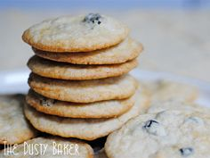 Blueberries & Cream Cookies *Gluten Free* from @Jacqueline - The Dusty Baker