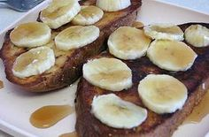 "Yes!!!!! Adding Protein Powder to my Ezekiel Bread French Toast! Amazingness overfloweth! | ""Ingredients        1 scoop 100% Whey Protein Powder Vanilla      2 slice Ezekiel 4.9 Sprouted Grain Bread      1/2 cup Egg Whites      1/4 cup Milk 2%      1 medium Bananas (to top)      1/8 tsp Ground Cinnamon"