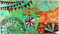 "Carnival by Barbara Gilhooly (Acrylic Painting) (16"" x 28"")"