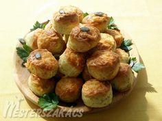 Joghurtos-tökmagos pogácsa Pretzel Bites, Baked Potato, Sprouts, Potatoes, Bread, Baking, Vegetables, Ethnic Recipes, Food