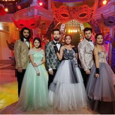Celebrity Couple Costumes, Celebrity Couples, Celebrity Weddings, Shrenu Parikh, Surbhi Chandna, Ballroom Costumes, Bridesmaid Dresses, Wedding Dresses, Frocks