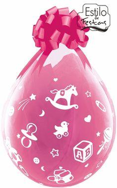 Balão Embalagem Bebê Berçário Baby\'s Nursery para presente Qualatex