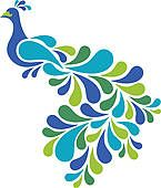 free peacock painting | Peacock Clip Art and Illustration. 1164 peacock clipart vector EPS ...