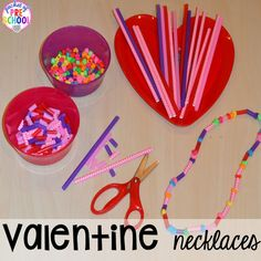 Valentine's Day Themed Centers and Activities - Pocket of Preschool - Candy Heart Pattern FREEBIE plus all my favorite Valentine's Day themed writing, math, fine motor - Valentine's Day Crafts For Kids, Valentine Crafts For Kids, Valentines Day Activities, Valentine Ideas, Valentine Theme, Valentines Day Party, Valentine Sensory, Valentine Nails, Science Activities For Kids