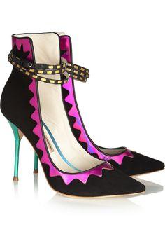 Sophia Webster|Roka iridescent leather and suede pumps|NET-A-PORTER.COM