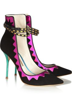 Sophia Webster | Roka iridescent leather and suede pumps | NET-A-PORTER.COM
