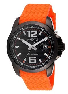 Momentus Stainless Steel with Orange Rubber Band Black Dia & Ion Plated Bezel Men's Watch $132.60 Bargains N More carries 100% genuine authentic Brand name Watches. 100% customer satisfaction. Customer service representatives are always available via phone, email to answer your questions. https://www.bargainsnmore.com/ Today's Trending Styles.