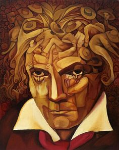 Challenges of a Genius. My Letter to Ludwig Van Beethoven Optical Illusion Paintings, Art Optical, Optical Illusions, Fractal, Hidden Pictures, 7 Arts, Illusion Art, Giacometti, Surreal Art