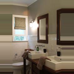 Farrow and Ball Lamp Room Gray bathroom