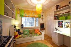 Pirteät värit antavat lastenhuoneelle raikkaan ilmeen