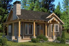 This cabin design floor plan is 824 sq ft and has 2 bedrooms and has 1 bathrooms. Small Cabin Plans, Cabin House Plans, Craftsman Style House Plans, Small House Plans, House Floor Plans, Small Cottage Plans, Micro House Plans, Log Cabin Homes, Barn Homes