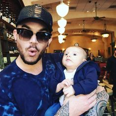 """ADAMLAMBERT on Instagram: """"Kickin it w my nephew Remy! uncleadam"""""""