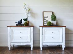 Gorgeous White Painted Nightstands