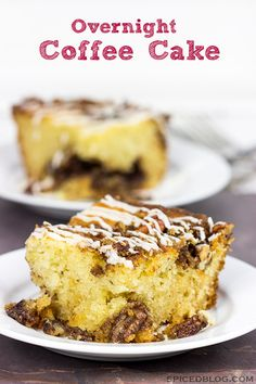 Have guests in town during the holidays? Make breakfast easy with this Overnight Coffee Cake!