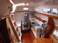 Boatsmith Shavings: Wharram Tiki 38 Catamarans For Sale Catamaran For Sale, Sailing Catamaran, Nautical Interior, Boat Interior, Liveaboard Boats, Shipping Container Design, Boat Projects, Boat Design, Tiny House Living