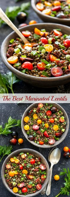 The Best Marinated Lentils   A protein-heavy, quick and delicious side dish that will satisfy both plant-based and meat eaters!