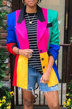 Blazer Outfits, Blazer Fashion, Suit Fashion, Fashion Dresses, Beautiful Outfits, Cool Outfits, Casual Outfits, Look Street Style, Jumpsuits For Women